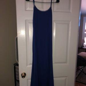 Backless Royal Blue Maxi Dress